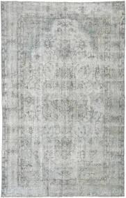 단색 빈티지 러그 165X265 정품 모던 수제 라이트 그레이/터코이즈 블루 (울, 터키)