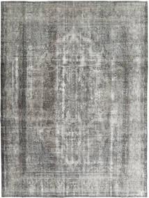 단색 빈티지 러그 285X375 정품  모던 수제 라이트 그레이/다크 그레이 대형 (울, 페르시아/이란)