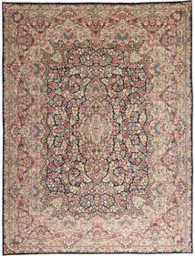 케르만 러그 290X387 정품  오리엔탈 수제 라이트 그레이/다크 브라운 대형 (울, 페르시아/이란)