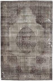 단색 빈티지 러그 200X295 정품 모던 수제 다크 그레이/라이트 그레이 (울, 파키스탄)