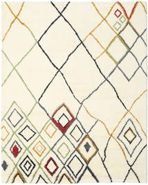 베르베르 인도 - Off-흰색/Multi 러그 240X300 정품  모던 수제 베이지/화이트/크림 (울, 인도)
