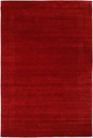 로리바프 Loom Beta - 빨간색 러그 190X290 모던 다크 레드/러스트 레드 (울, 인도)