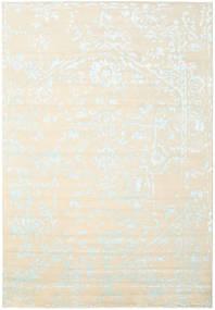Orient Express - 흰색/파란색 러그 240X340 정품 모던 수제 베이지/화이트/크림 (울/대나무 실크, 인도)