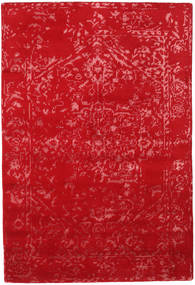 Orient Express - 빨간색 러그 140X200 정품  모던 수제 크림슨 레드 (울/대나무 실크, 인도)