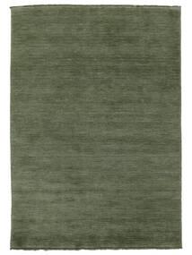 베틀 Fringes - 포레스트 그린 러그 160X230 모던 다크 그린/다크 그린 (울, 인도)