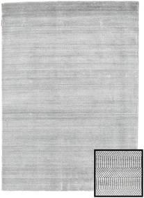 대나무 Grass - 회색 러그 140X200 모던 라이트 그레이/화이트/크림 (울/대나무 실크, 터키)