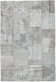 패치워크 러그 159X234 정품  모던 수제 라이트 그레이/터코이즈 블루 (울, 터키)