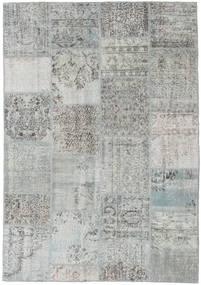 패치워크 러그 158X230 정품  모던 수제 라이트 그레이/터코이즈 블루 (울, 터키)