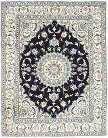 나인 러그 193X250 정품  오리엔탈 수제 라이트 그레이/베이지 (울, 페르시아/이란)