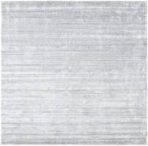 대나무 실크 Loom - 회색 러그 250X250 모던 사각형 화이트/크림/라이트 그레이 대형 ( 인도)