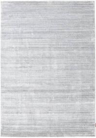 대나무 실크 Loom - 회색 러그 160X230 모던 화이트/크림/라이트 그레이 ( 인도)