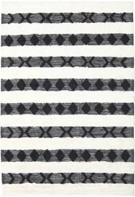 Shaula - 검정색/흰색 러그 200X300 정품  모던 수제 베이지/화이트/크림 (울, 인도)
