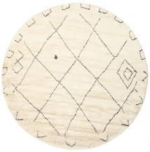 Almaaz - 흰색 러그 Ø 250 정품  모던 수제 원형 베이지/화이트/크림 대형 (울, 인도)