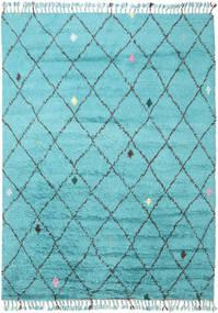 Alta - 청록색 러그 200X300 정품  모던 수제 라이트 블루/터코이즈 블루 (울, 인도)