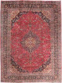마슈하드 러그 295X395 정품 오리엔탈 수제 다크 레드/브라운 대형 (울, 페르시아/이란)