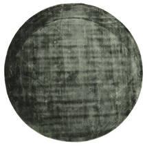 Brooklyn - 모스 그린 러그 Ø 200 모던 원형 다크 그린/블랙 ( 인도)