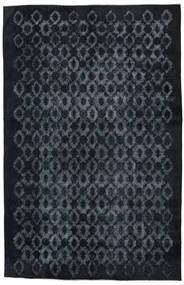 단색 빈티지 Relief 러그 211X327 정품 모던 수제 다크 블루/다크 그레이 (울, 터키)