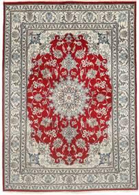 나인 러그 150X207 정품  오리엔탈 수제 라이트 그레이/다크 레드 (울, 페르시아/이란)
