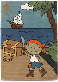 Pirate Handtufted 러그 170X240 모던 라이트 브라운/블루 (울, 인도)
