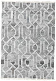 야외 카펫 Trinny - 진한 회색/회색 러그 140X200 정품  모던 수제 라이트 그레이/화이트/크림 ( 인도)