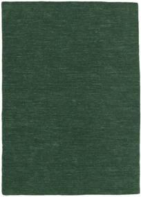킬림 Loom - 포레스트 그린 러그 160X230 정품  모던 수제 다크 그린 (울, 인도)