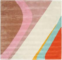 Dynamic Handtufted - 핑크색 러그 250X250 모던 사각형 베이지/라이트 브라운 대형 (울, 인도)