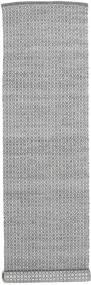 Alva - 진한 회색/흰색 러그 80X350 정품  모던 수제 복도용 러너  라이트 그레이/다크 그레이 (울, 인도)