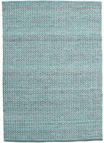 Alva - 청록색/흰색 러그 140X200 정품  모던 수제 라이트 블루/터코이즈 블루 (울, 인도)