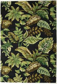 Jungel - 녹색/검정색 러그 200X300 모던 다크 그린/올리브 그린 (울, 인도)