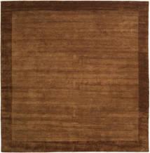 베틀 Frame - 갈색 러그 300X300 모던 사각형 브라운/다크 브라운 대형 (울, 인도)