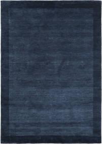 베틀 Frame - 어두운 파란색 러그 160X230 모던 다크 블루 (울, 인도)