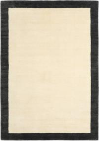 베틀 Frame - 검정색/흰색 러그 160X230 모던 베이지/블랙 (울, 인도)