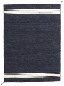 Ernst - Navy/황백색 러그 140X200 정품  모던 수제 다크 블루/다크 그레이 (울, 인도)