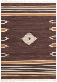 Tribal - 갈색 러그 160X230 정품  모던 수제 다크 브라운/다크 레드 (울, 인도)