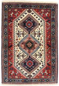 Yalameh 러그 98X141 정품 오리엔탈 수제 다크 레드/다크 블루 (울, 페르시아/이란)