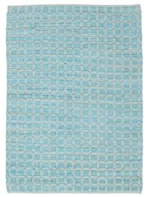 Elna - Bright_Blue 러그 140X200 정품  모던 수제 라이트 블루/터코이즈 블루 (면화, 인도)