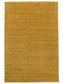 베틀 Fringes - 노란색 러그 160X230 모던 오렌지/라이트 브라운 (울, 인도)