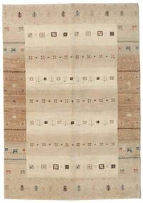 가베 인도 러그 138X198 정품  모던 수제 복도용 러너  베이지/라이트 그레이 (울, 인도)