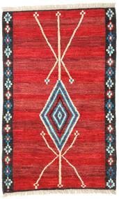 Moroccan 베르베르 - Afghanistan 러그 118X187 정품  모던 수제 러스트 레드/크림슨 레드 (울, 아프가니스탄)