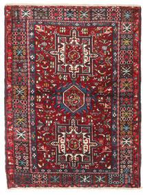 헤리즈 러그 106X140 정품 오리엔탈 수제 다크 레드/블랙 (울, 페르시아/이란)