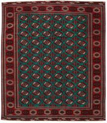 Turkaman 파티나 러그 293X338 정품 오리엔탈 수제 다크 레드/다크 브라운 대형 (울, 페르시아/이란)