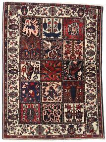 바흐티아리 러그 110X151 정품 오리엔탈 수제 다크 브라운 (울, 페르시아/이란)