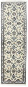 나인 러그 80X250 정품  오리엔탈 수제 복도용 러너  다크 그레이/베이지 (울, 페르시아/이란)