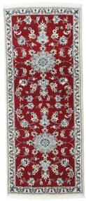 나인 러그 80X200 정품  오리엔탈 수제 복도용 러너  다크 레드/크림슨 레드 (울, 페르시아/이란)