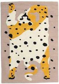 The Spotty Cat - Beige/Multi 러그 100X160 모던 라이트 그레이/베이지 (울, 인도)