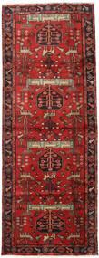 하마단 러그 105X284 정품 오리엔탈 수제 복도용 러너 다크 레드/러스트 레드 (울, 페르시아/이란)