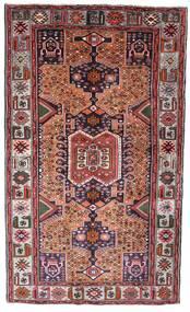 하마단 러그 130X222 정품 오리엔탈 수제 다크 브라운/다크 레드 (울, 페르시아/이란)