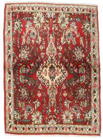 세너 러그 107X150 정품 오리엔탈 수제 다크 브라운/러스트 레드 (울, 페르시아/이란)
