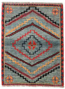 가베 Rustic 러그 112X148 정품 모던 수제 라이트 그레이/그린 (울, 페르시아/이란)