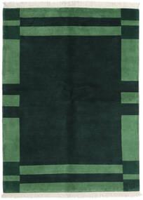 가베 인도 러그 170X230 정품  모던 수제 다크 터코이즈  /다크 그린 (울, 인도)
